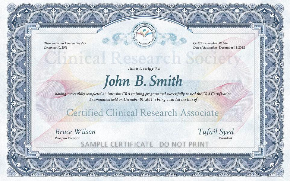 Crs Training Certification Programs Crs Clinical Research Society